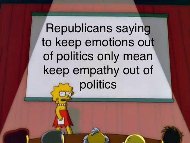 Democrats are too emotional!!!1