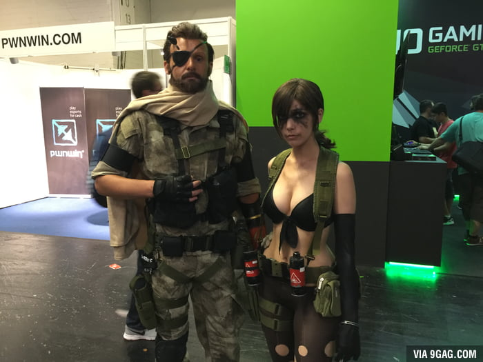 Saw these two at Gamescom. And Snake was there, too!