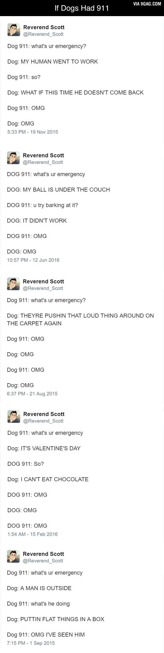 If dogs had 911