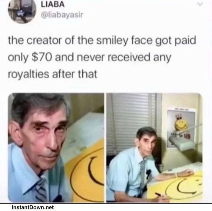 He looks sad for a smile creator