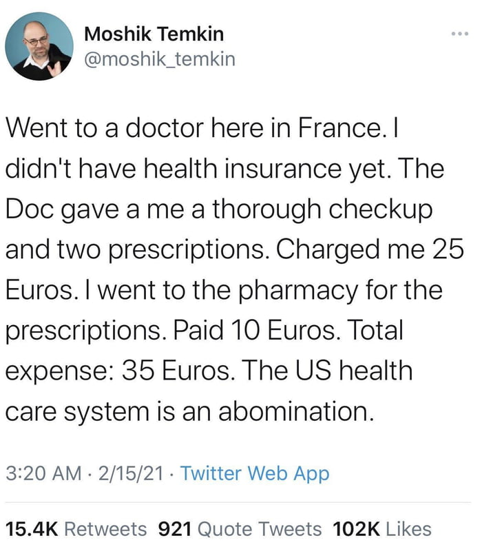 Universal healthcare seems like a pretty simple solution