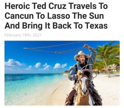 Brave Ted Cruz.