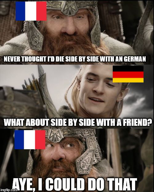 When germany and france goes into WW3 against China
