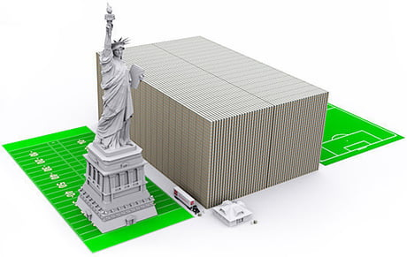This is what the US debt would look like if it were in $100 bills