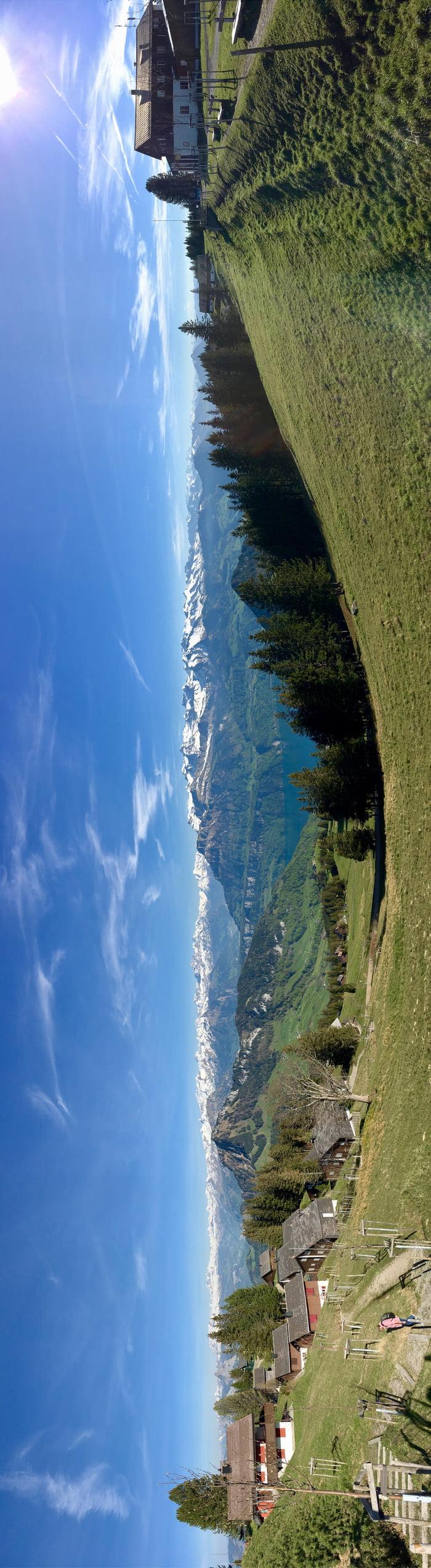Panorama @ 1670m - Scheidegg, Switzerland [from an interesting perspective]