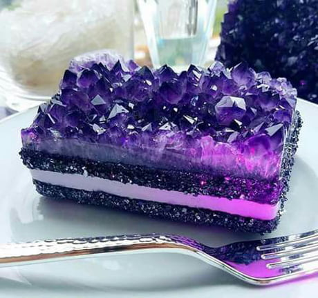 Actual crystal cake. slice, anybody?