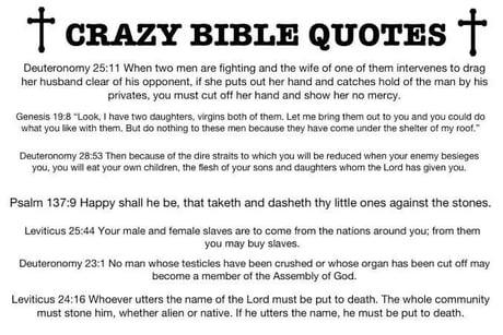 Crazy Bible Quotes 9gag