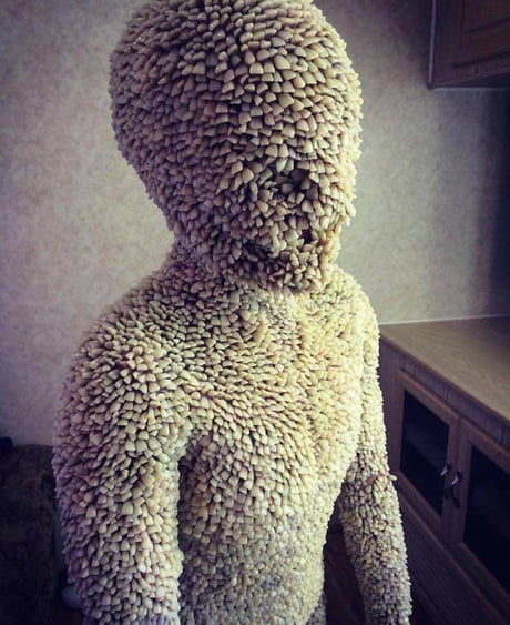 A Life Size Sculpture Made Entirely Of Human Teeth 9gag