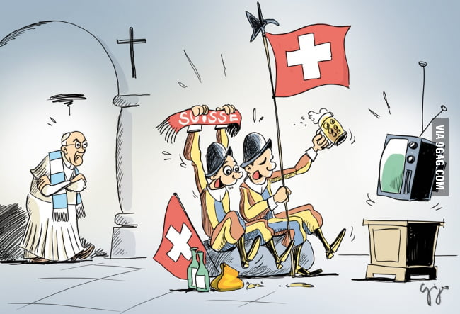 Argentina vs Switzerland as seen in The Vatican - World cup.