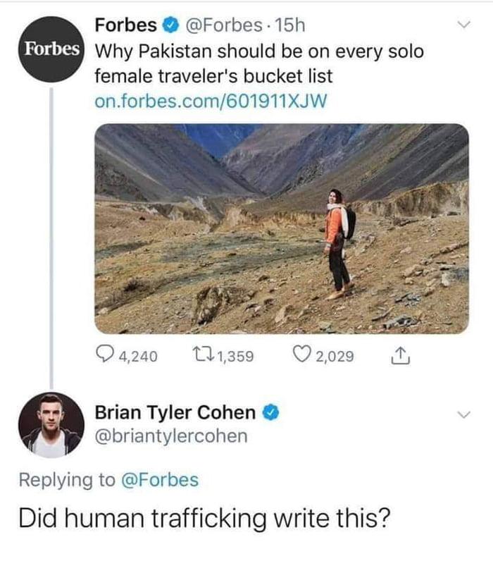 """""""Did human trafficking write this?"""""""