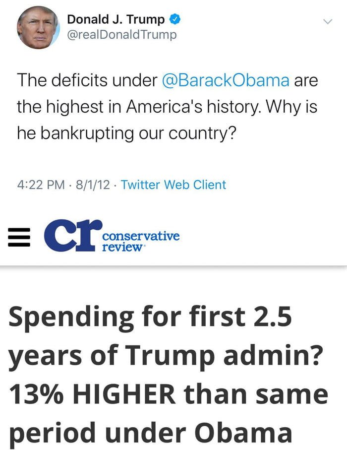 Conservatives, fiscally responsible when out of power, spending like it's going out of fashion while in power