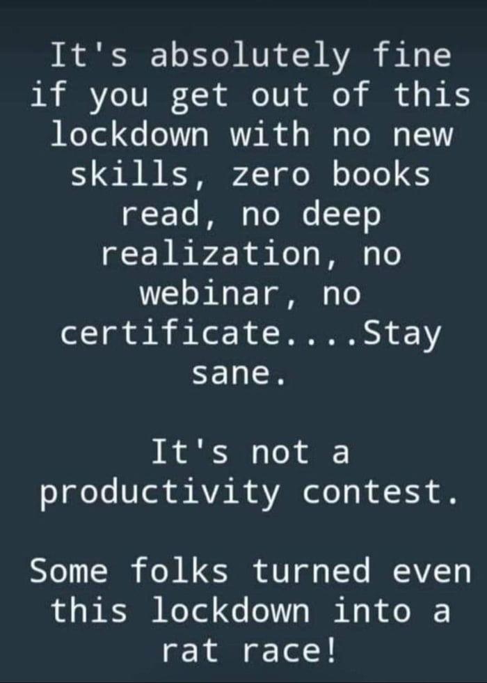 Lockdown..