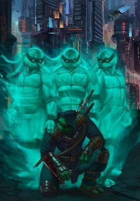 For those who haven't heard there will be a new TMNT comic coming out called the last ronin where all of the brothers are dead but one. Which turtle is the last to survive and is using his dead brothers weapons to get revenge has yet to be revealed.