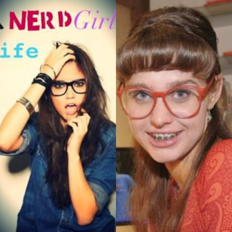 Girl hot nerdy Can you