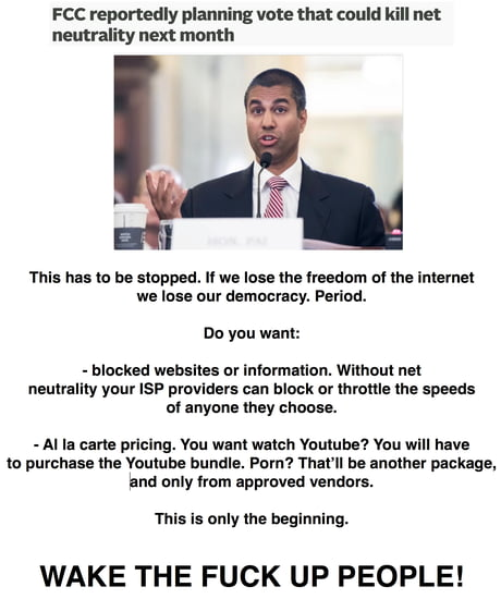 I don't know which is worse, that these assholes are about to shut down the internet, and freedom of speech and democracy along with it, or that no one seems to care.