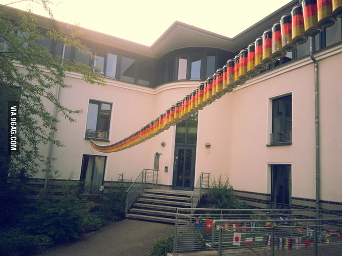 This flag out of beer cans is the most german thing ever