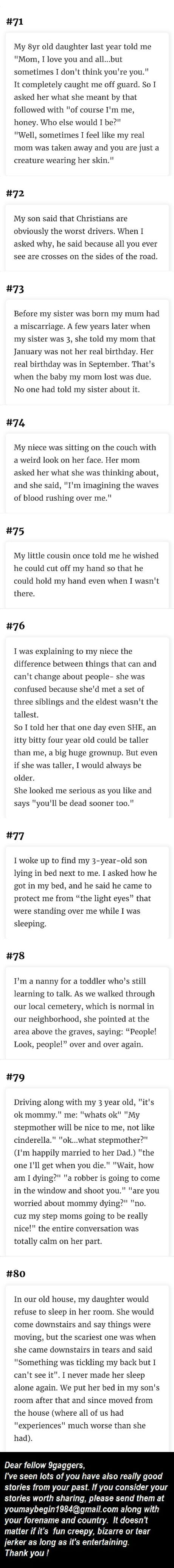 Creepy things say really to 101 Funny