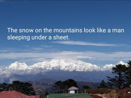 Glorious mountains of India