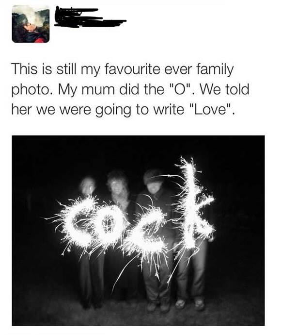 """They told her it would spell """"love"""""""