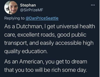 You get to dream to be rich