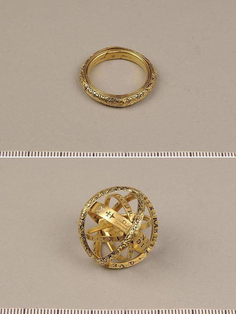 16th century ring that unfolds into an astronomical sphere