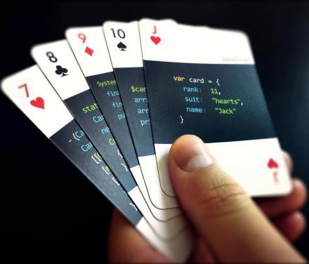 'Code:Deck' are playing cards for programmers.
