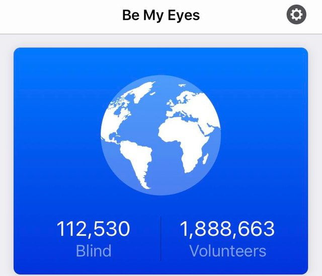 This is an app where blind people can be guided through video by volunteers. This was the ratio today