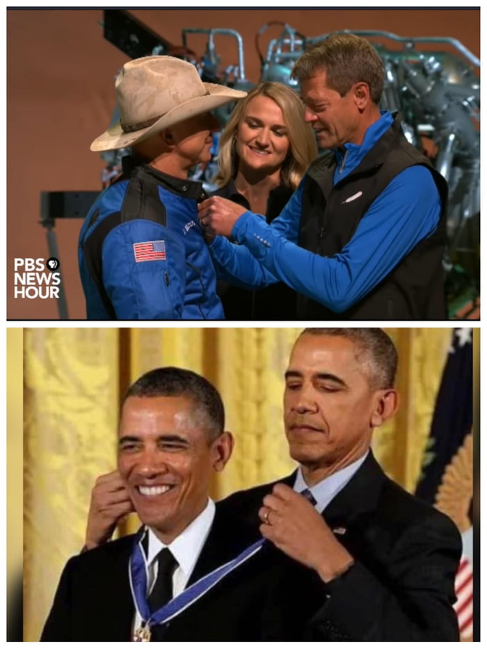 Blue Origin Giving Jeff Bezos a Medal