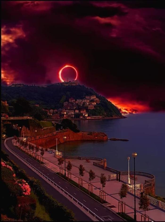 Solar eclipse in Portugal