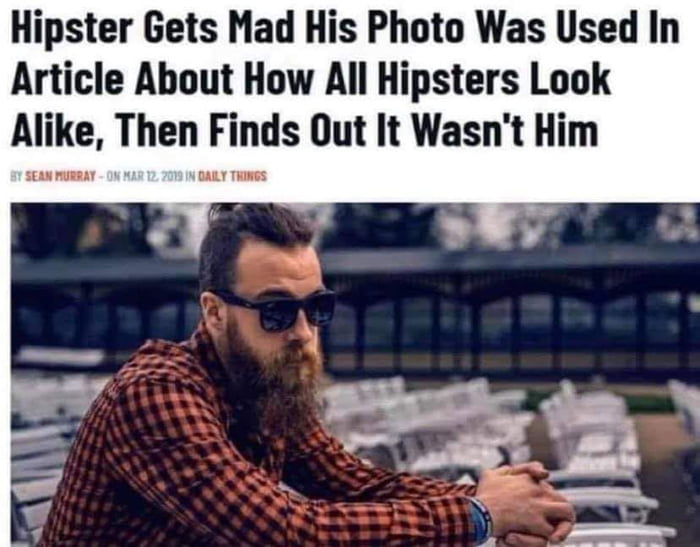 Darned hipsters!