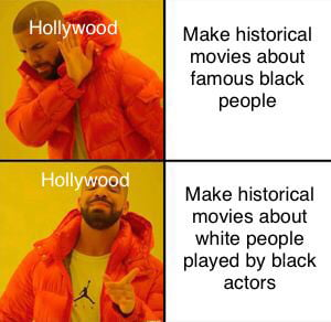It do be like that most times, I wouldn't be opposed, if there were white people representing black characters.