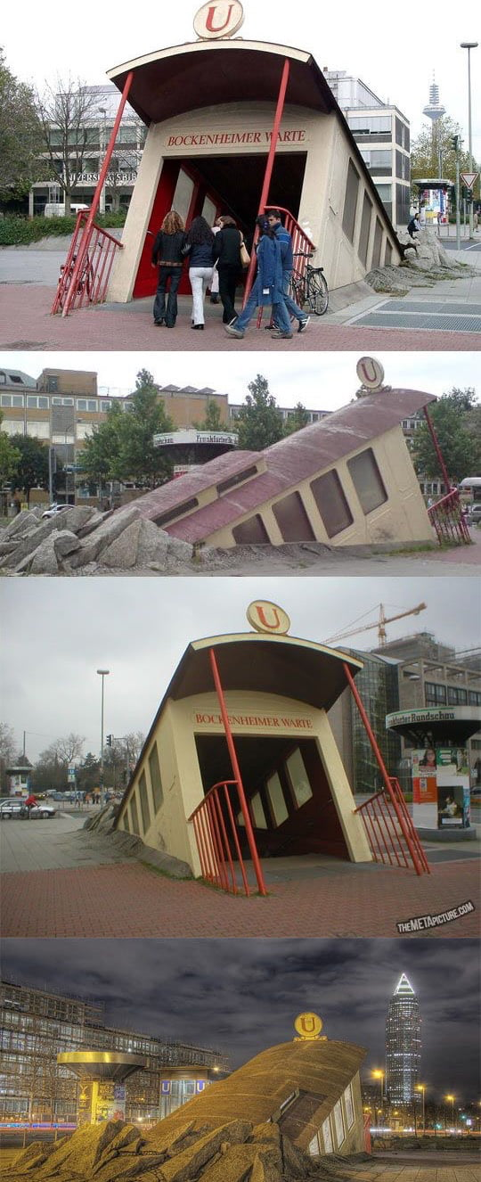 Awesome subway entrance, Hessen, Germany