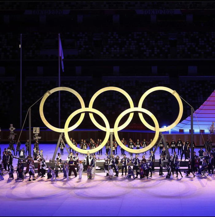 The Olympic Rings for the 2020 Tokyo Olympics were made with wood grown from trees planted by athletes 57 years ago when the Olympics first came to Tokyo.