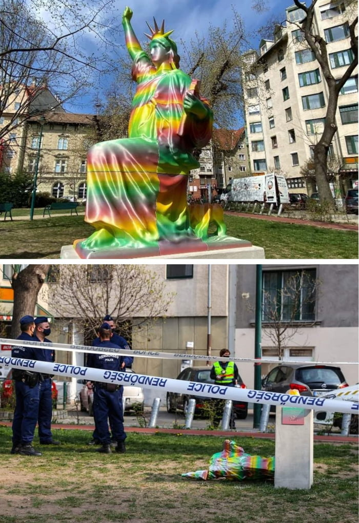 BLM statue lasted for 1 day in Hungary