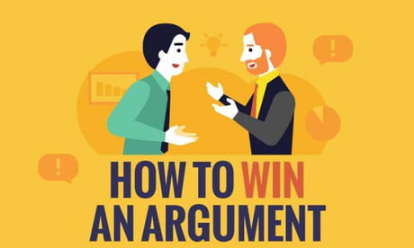Some good advice for an argument