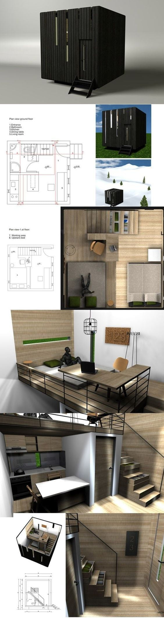 Tiny House #3 concept. Yay or nay?
