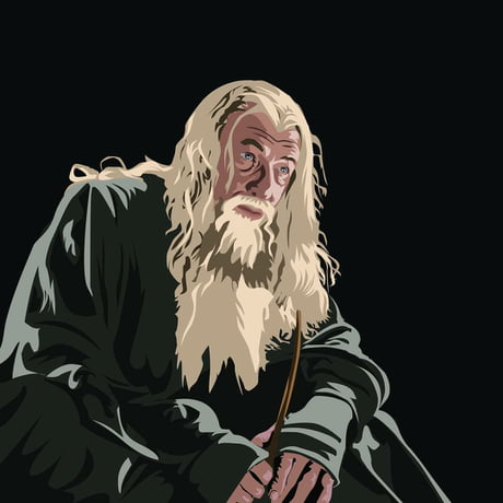 Awesome I tried making Gandalf on Adobe Illustrator, it turned out pretty well….I would love to hear what you 9gaggers think.