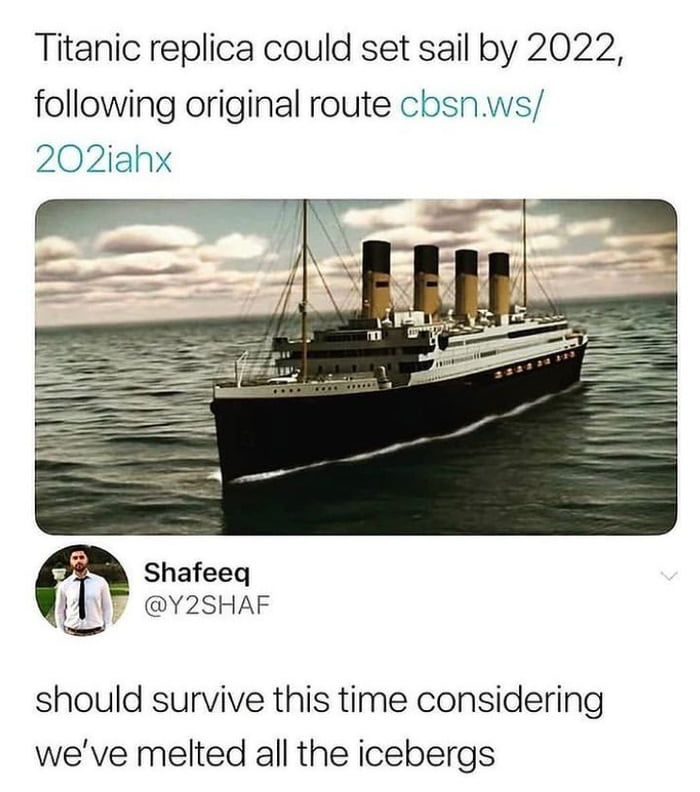 There won't be another titanic incident!