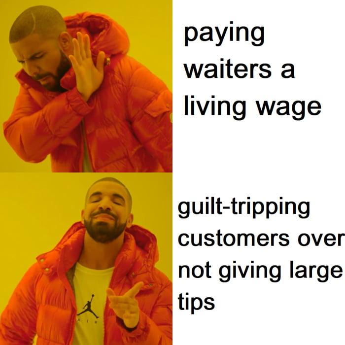 Some restaurants be like