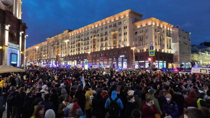 Moscow now. Freedom for Alexei Navalny
