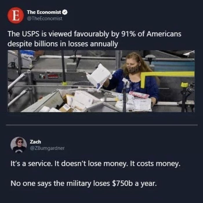 The USPS is a service