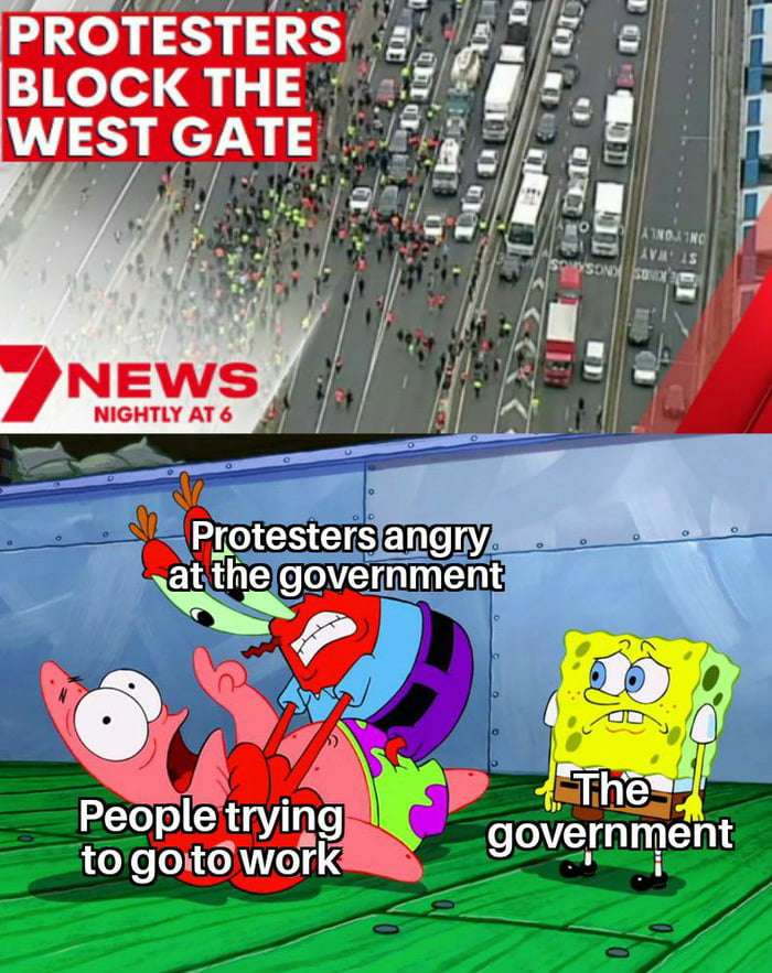Why is it when people are angry about the government, they go after everyone BUT the government?
