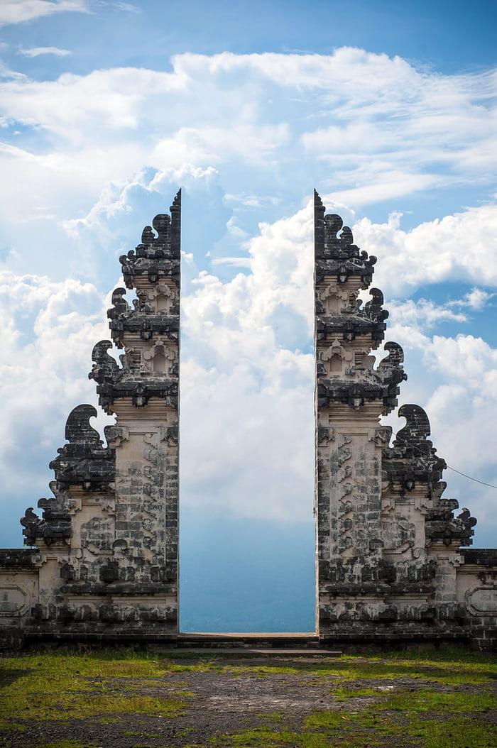 Balinese temple gate in Indonesia