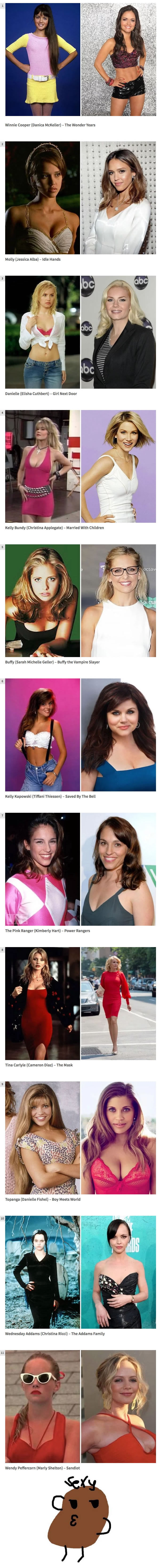 11 Boyhood crushes then and now, feel old yet ?