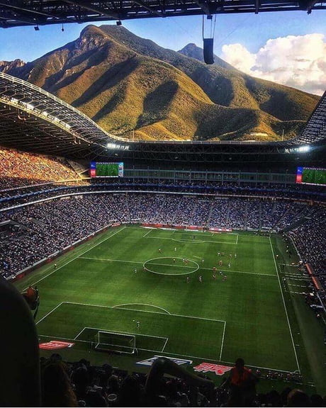 The view from C.F. Monterry's new stadium in Mexico is incredible