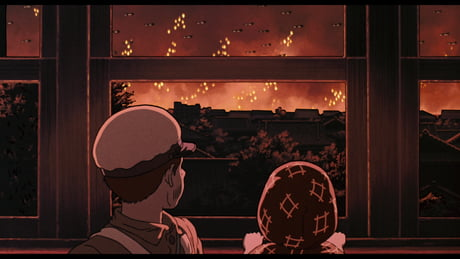 Ghibli Fans Are Surprised By The Hidden Images In Grave Of The Fireflies Movie Poster 9gag