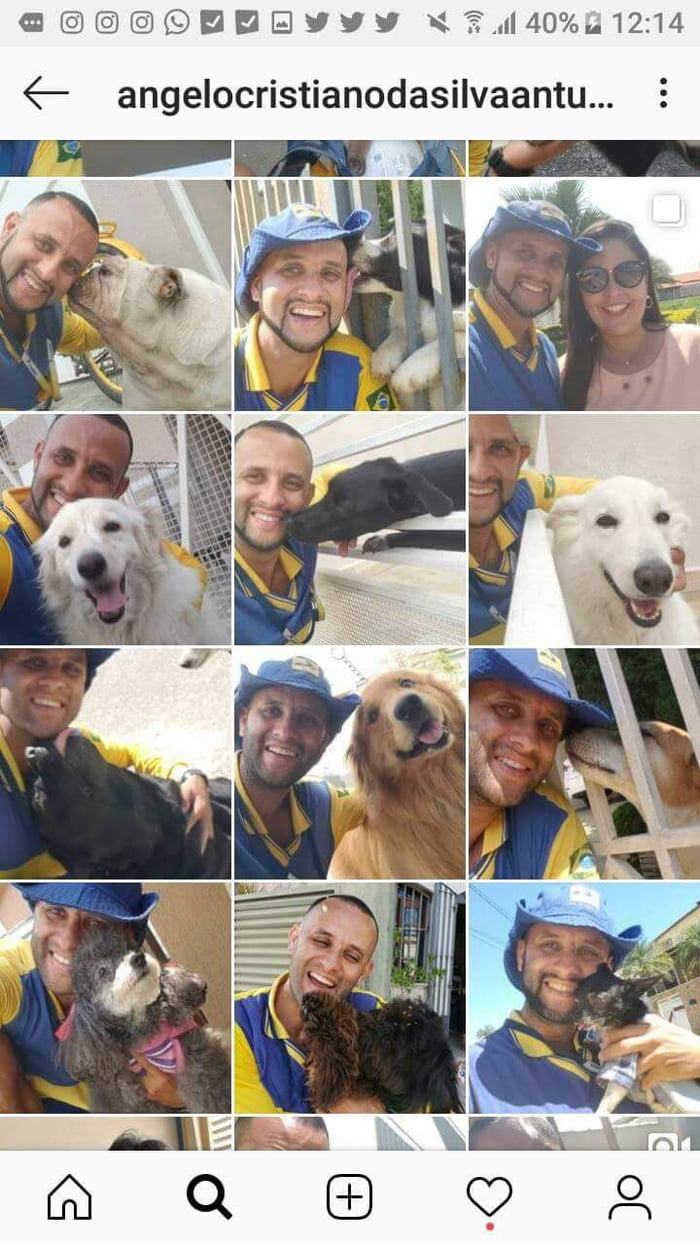 Mailman that takes selfie with every dog while working