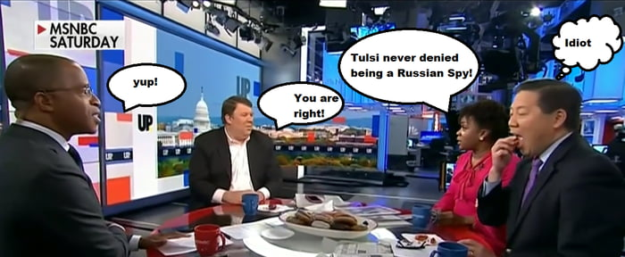 Actual MSNBC conversation! OK, I added the guys thoughts, but the defense of Hillary is still alive and well in some people. Good luck