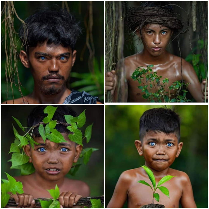 The blue-eyed Buton tribe of Southeast Sulawesi, Indonesia.