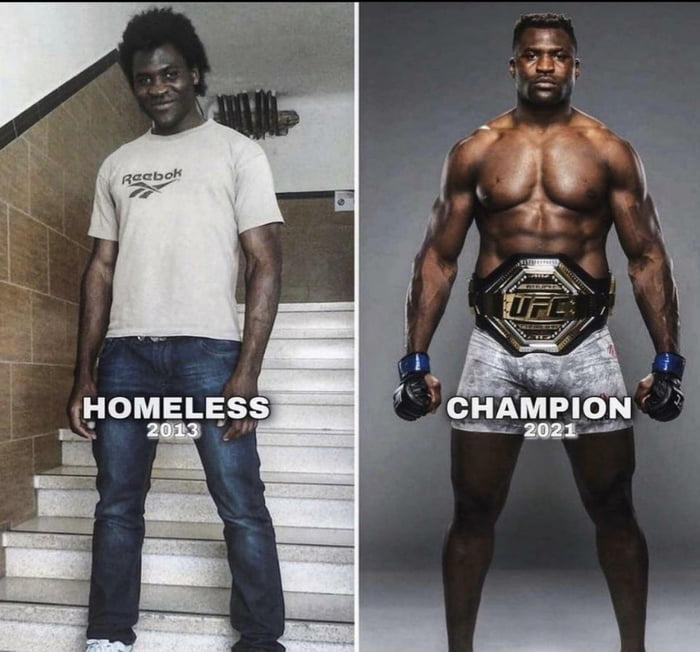 Francis Ngannou was raised in extreme poverty in Cameroon and began working in salt mines at age 10. He later migrated to Europe, crossing the Sahara in pursuit of his dream to become a professional fighter. This year, he became UFC heavyweight champion.